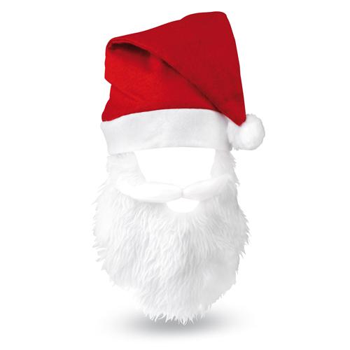 Cappello Babbo Natale con barba Personalizzato