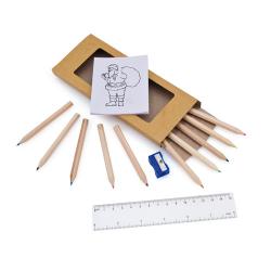 Set Natalizio di matite colorate Personalizzate
